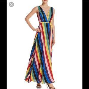 Aqua Maxi Wrap Dress